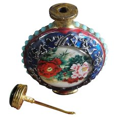 Vintage Chinese, Snuff Bottle, With Stand