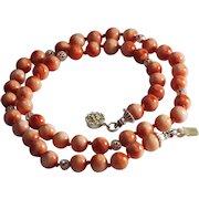 100% Natural Real Momo Coral Necklace