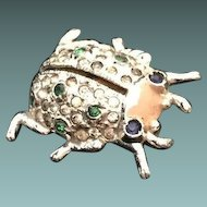 1940s Patented Coro Perfuming Beetle Pin