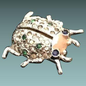 1940s Patented Coro Perfuming Beetle Pin
