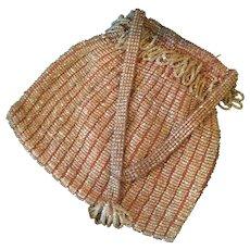 1920s Dainty Glass Bead Crochet Flapper Handbag