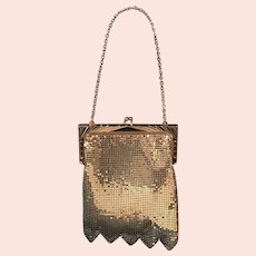 Whiting and Davis Gold Metal Mesh Deco Purse