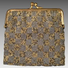1920s Micro-Steel Beaded Top-Frame Coin Purse