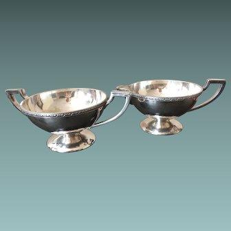 Benedict Silver Plate Cream & Sugar