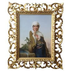 KPM Porcelain Plaque of a Middle Eastern Maiden at a Well c. 1900
