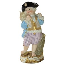 Antique Meissen Boy with Sheep