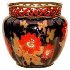 Large Iridized Zsolnay Pottery Jardiniere