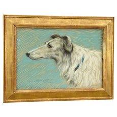 Pastel of Borzoi/Russian Wolfhound