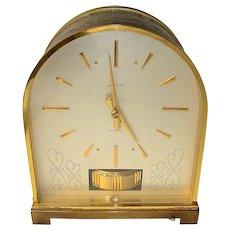 Rare 1960's Limited Edition 'Bourne Bollard' LeCoultre Atoms Table Clock