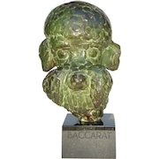 Unusual Patinated Bronze Portrait Bust of Pet Poodle 'Baccarat' Dated 1945