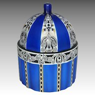 Porcelain Covered Secessionist/Wiener Werkstatte Style Box by Fraureuth c. 1915