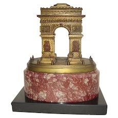 19th c. Grand Tour Bronze of the Arc de Triomphe