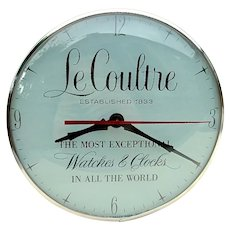 Rare Mid 20th C. LeCoultre Light-Up Advertising Wall Clock