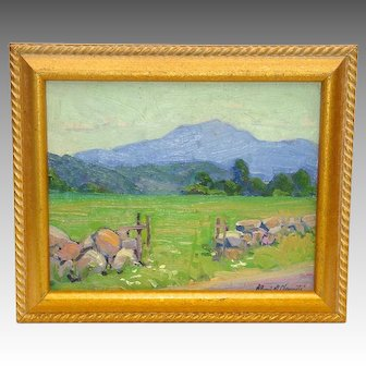 Impressionist Landscape Painting by American Artist Alling MacKaye Clements (1884-1957)
