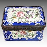 English Battersea/Bilston Enamel Snuff/Patch Box Circa 1780 - 1810