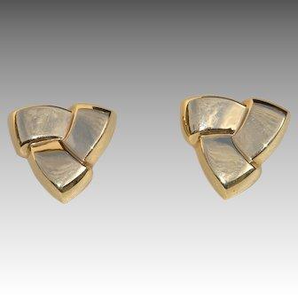 Pair of 14k Petal-Form Earrings