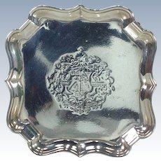 George II Sterling Silver Salver by Edward Feline London 1750-51