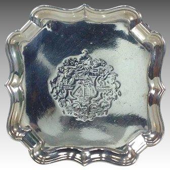 George II Sterling Silver Salver by Edward Feline London 1750-51