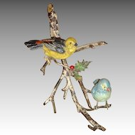 Vintage Vienna Bronze Birds Celebrate Christmas