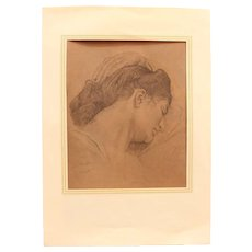 """Melancholie"" by M. Auerbach - Crayon on Paper"