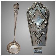 "German ""800"" Silverware Baroque Style Ladle"