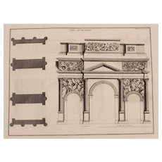"18th Century Copper Engraving ""Triumphal Arch of Orange"" from L'antiquité expliquée et représentée en figures by Bernard de Montfaucon"