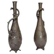 Art Nouveau Pewter Vase signed by W. Hering