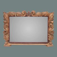 Original 18th Century Baroque Wood Carved Gilt Prayer Church Frame