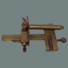 Rare 19th Century Set of Leatherworker Brass Tool - Plough Slitter by Blanchard a Paris