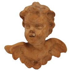 Small Baroque Antique Putto / Angel / Cherub (Wood)