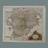 Rare 18th Century Fantasy Map of Utopia / Cockaigne / Schlaraffenland (Matthaus Seutter)