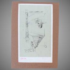 """19th Century Original Print for """"Reiseskizzen"""" by Franz Brantzky"""