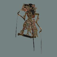 19th Century Original Indonesian Leather Shadow Puppet - Wayang