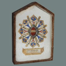 19th Century Reliquary Shadow Box Picture - S. Venusti M.