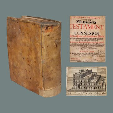 Judaica - Prideaux, Humphrey - The Old and New Testament Connected the History of the Jews (German First Edition 1721)