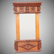 19th Century Handmade Wood Mirror