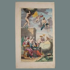17th Century Cover Page of Atlas Major of C. Allars featuring Greek Gods