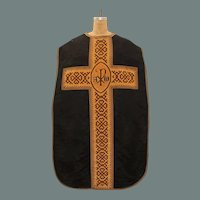 Gothic Style Clerical Vestment / 19th Chasuble Century from Spain