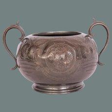 19th Century Belle Epoque Britannia Metal Vase from Continental Europe