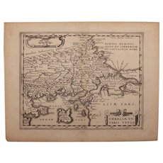 17th century map of Ancient Thrace by Ph. Cluverius