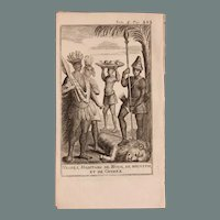 1717 Copper Engraving of the people of Guinea and Nubia - 18th Century Ethnographic Print
