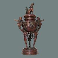 19th Century Japanese Bronze Censer / Koro / Incense Burner from Japan - Meiji Era