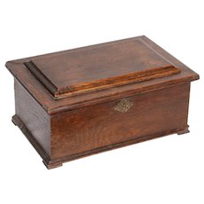 19th Century Jewelry Chest / Box in solid Hardwood