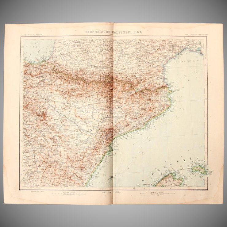 Art nouveau map of the north east spain incl barcelona tarragona art nouveau map of the north east spain incl barcelona tarragona pamplona gumiabroncs Choice Image