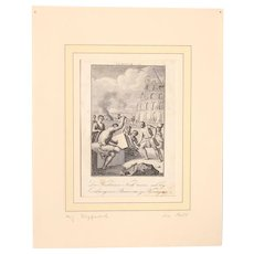 18th Century Copper Engraving of Moses and his heirs