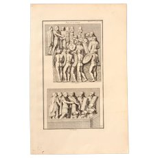 "18th Century Copper Engraving ""Speech"" from L'antiquité expliquée et représentée en figures by Bernard de Montfaucon"