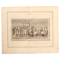 "18th Century Copper Engraving ""Roman Speech"" from L'antiquité expliquée et représentée en figures by Bernard de Montfaucon"