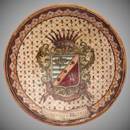 Rare 19th Century Collectors Plate from the 1888 Brussels International Exposition