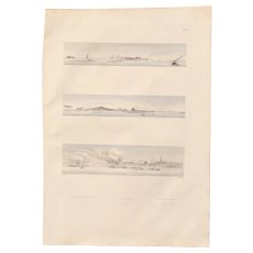 "Antique Print of Views of Shubrakhit - Original Copper Engraving from ""Napoleons Travels to Egypt"" (Vivant Denon) 1802"