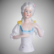 1900's Half Doll / Tea Doll - handpainted Porcelain from Germany